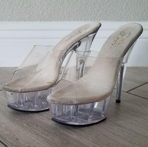 Pleasure clear heels